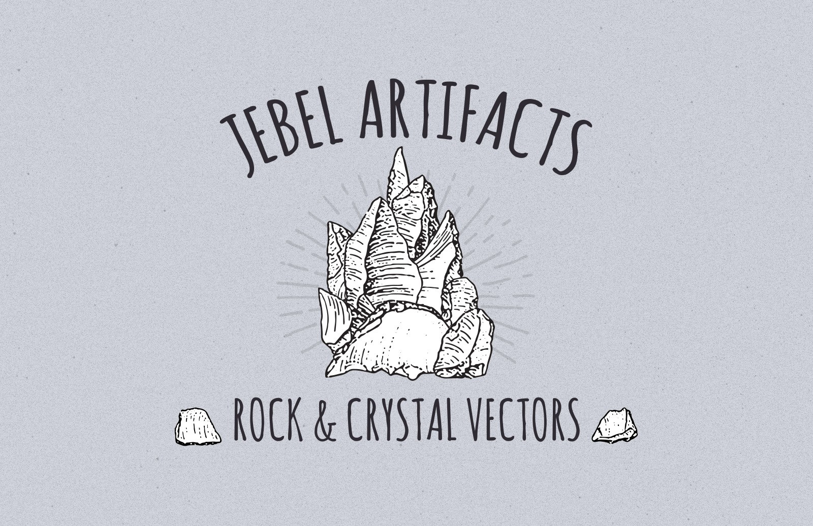 Jebel Artifacts Rock And Crystal Vectors Preview 1