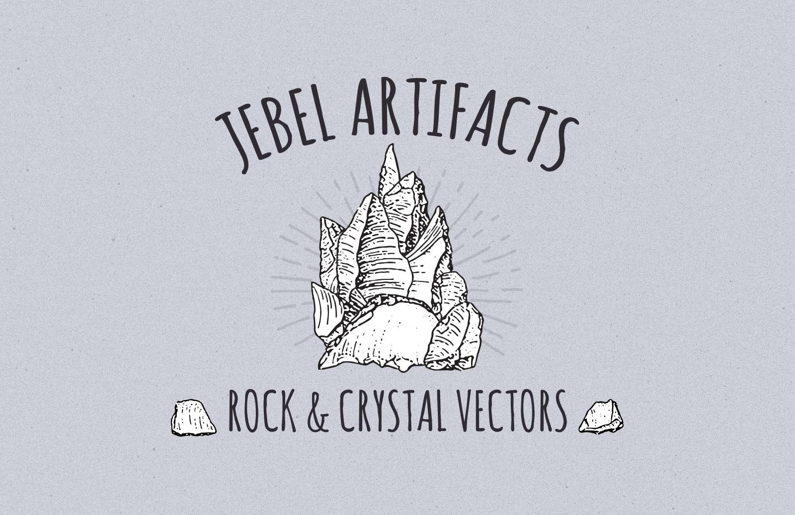 Jebel Artifacts: Rock & Crystal Vectors