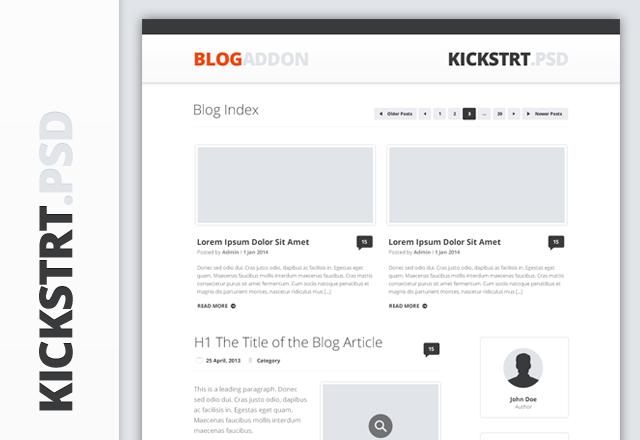 KickstrtPsd - Blog Addon