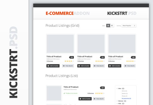 KickstrtPsd - Ecommerce Addon