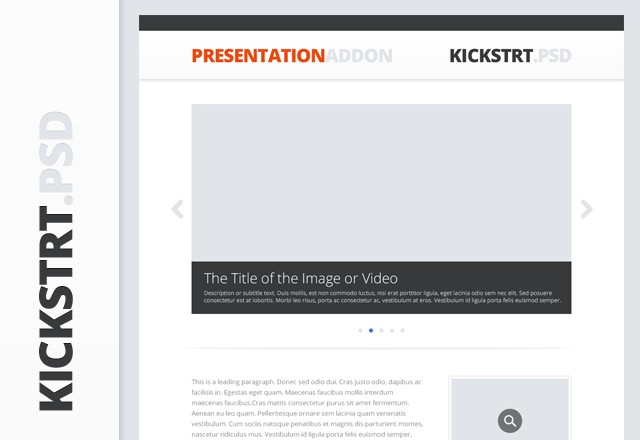 KickstrtPsd - Presentation Addon