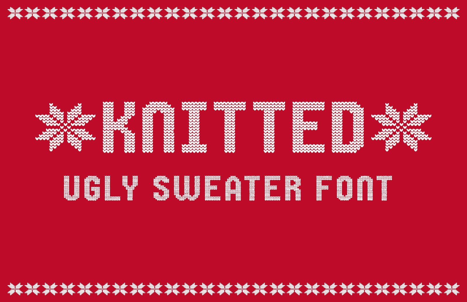 Knitted Ugly Sweater Font Preview 1