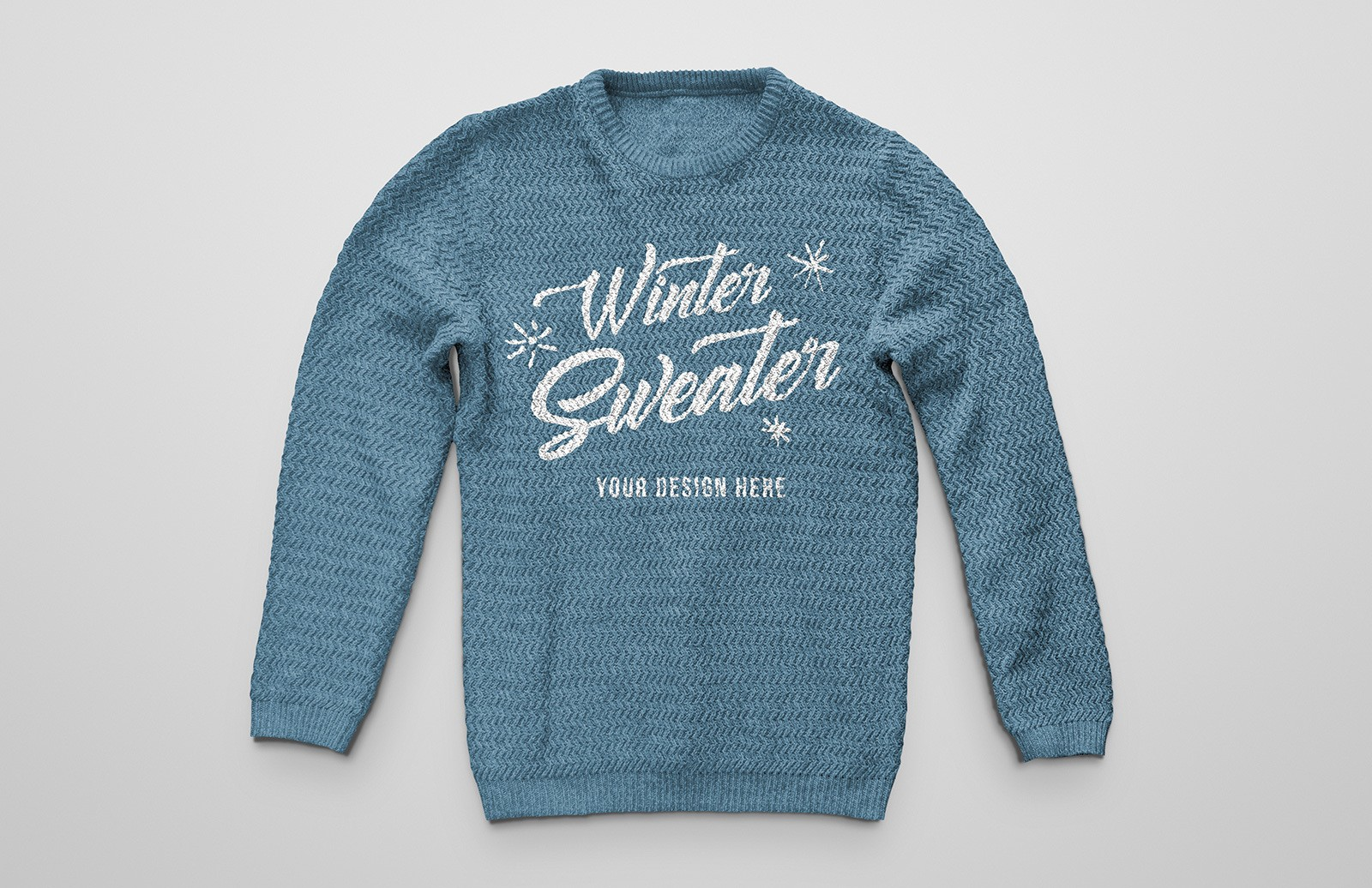 Knitted Winter Sweater Mockup Preview 1