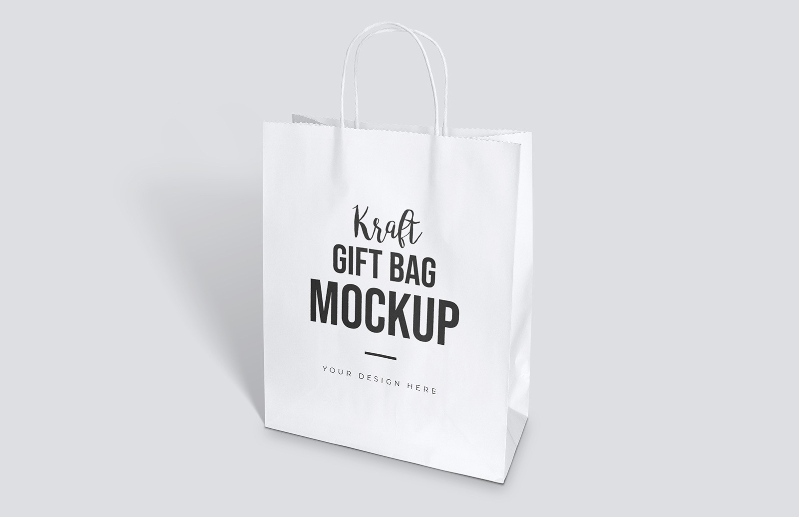 Kraft Gift Bag Mockup Preview 1