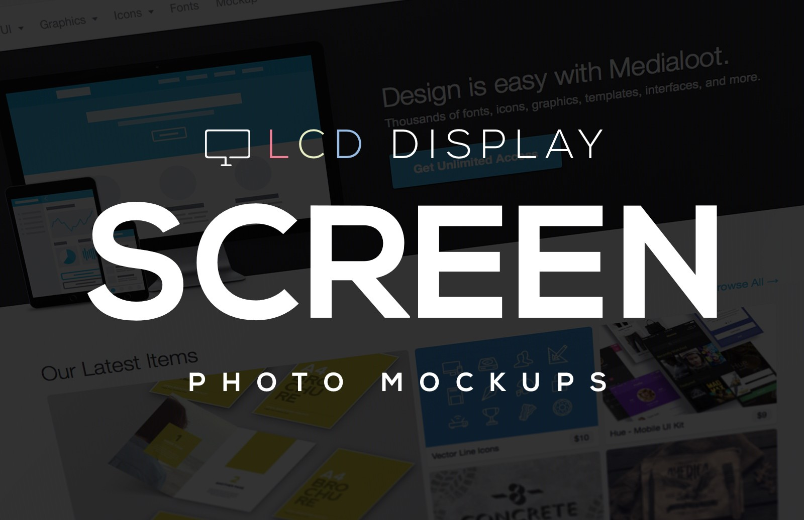 LCD Display Screen Photo Mockups