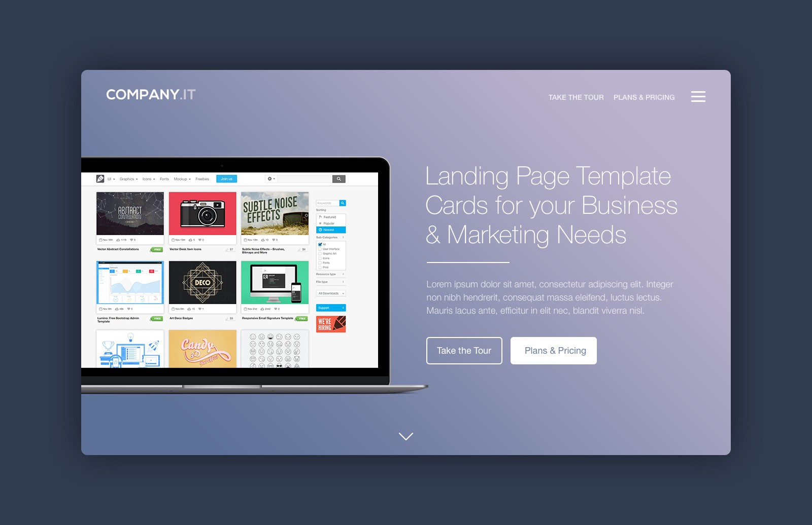 Landing Page Header Cards 1