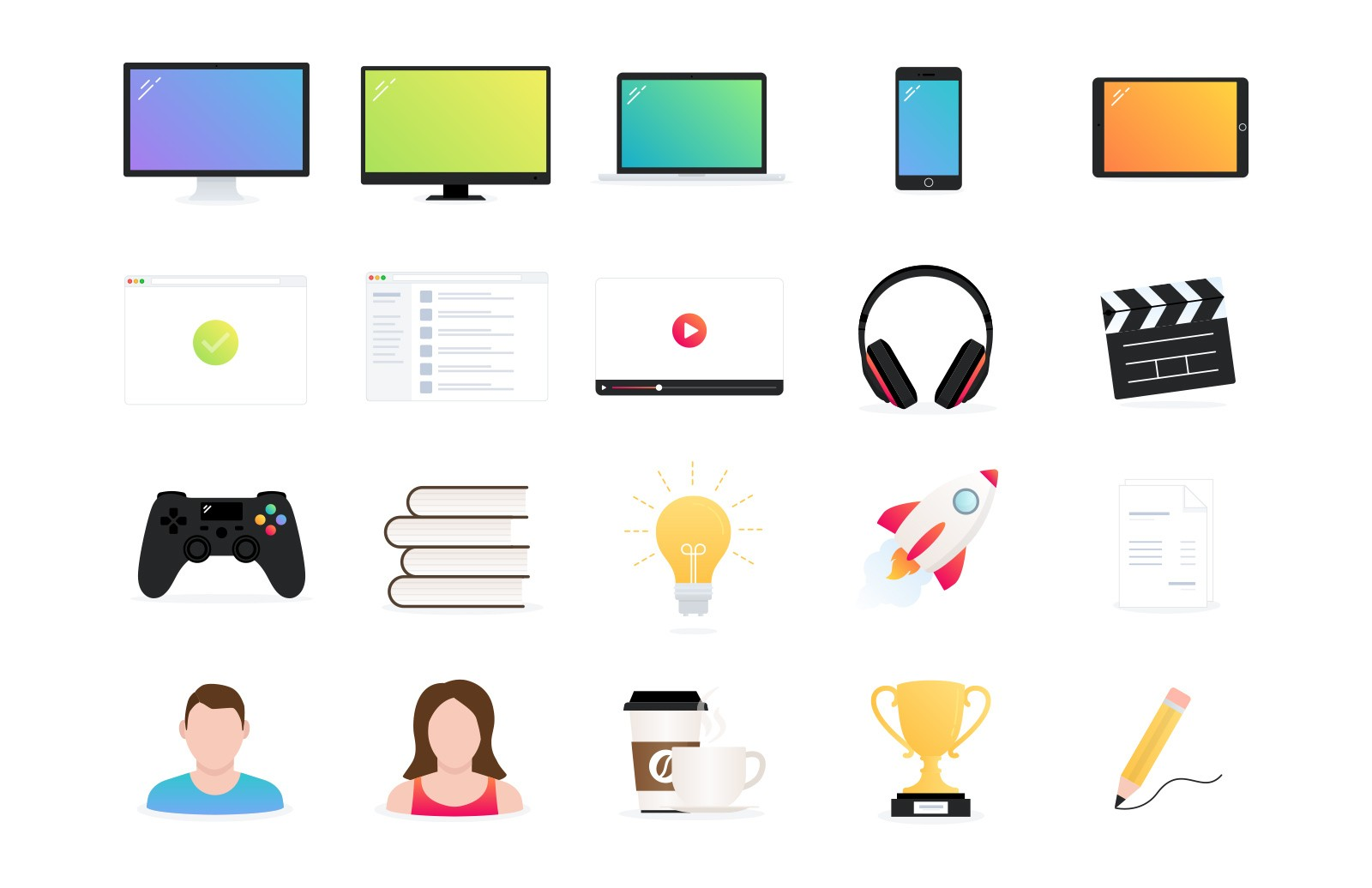 Landing Page Vector Icons