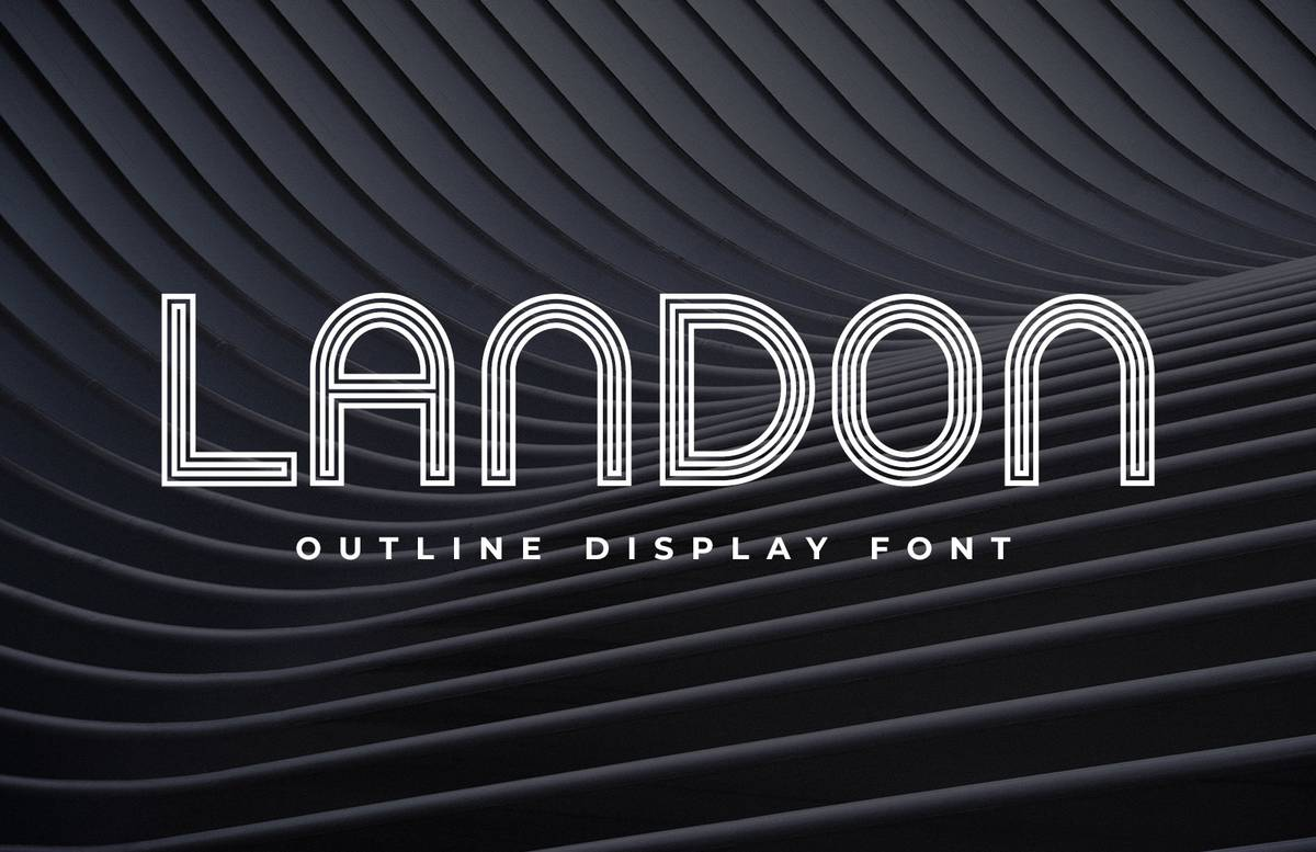 Landon Outline Display Font Preview 1