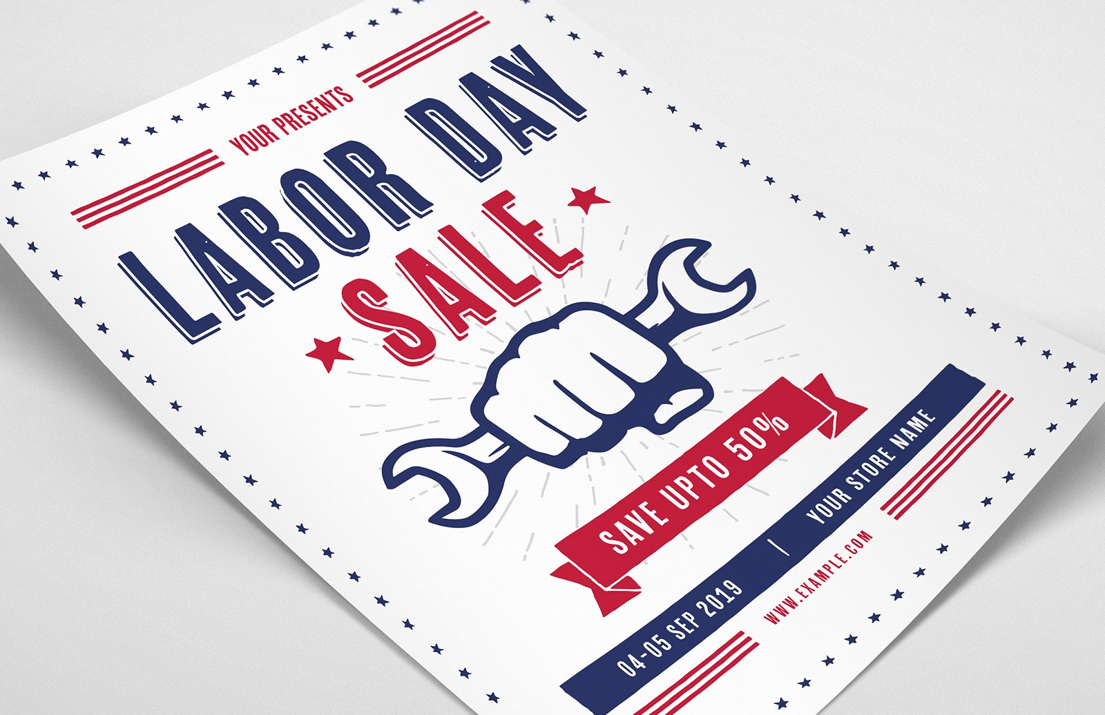 Labor Day Sale Flyer Template Preview 1