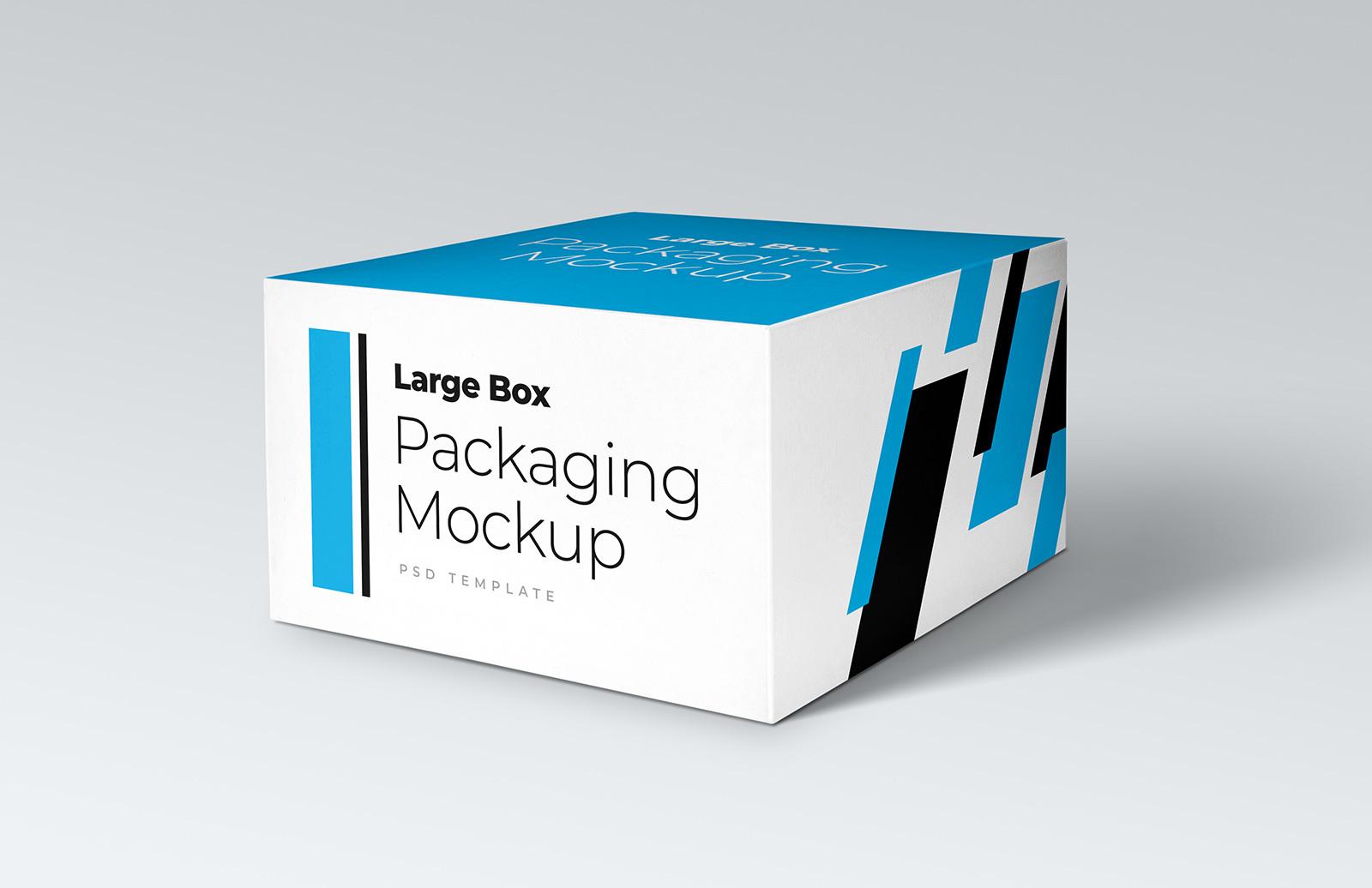 Free Large Box Packaging Mockup