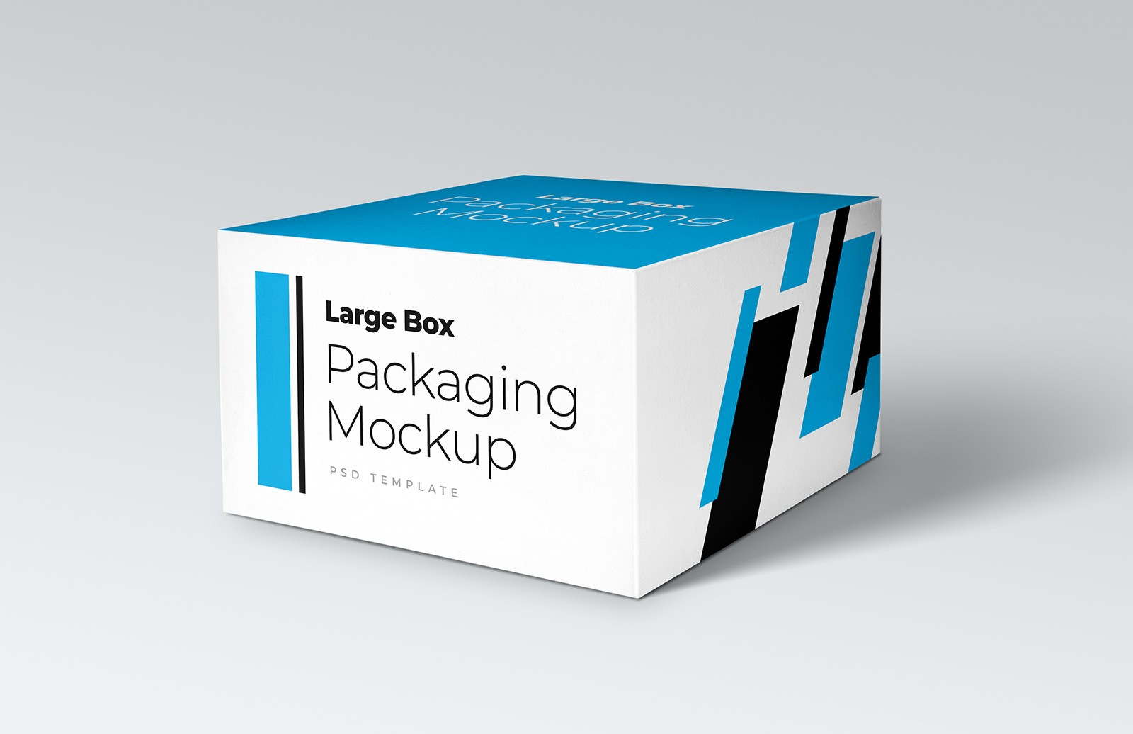 Free Large Box Packaging Mockup