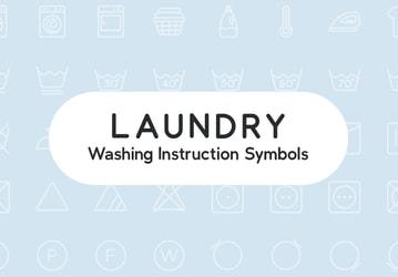 Laundry Washing Instruction Symbols
