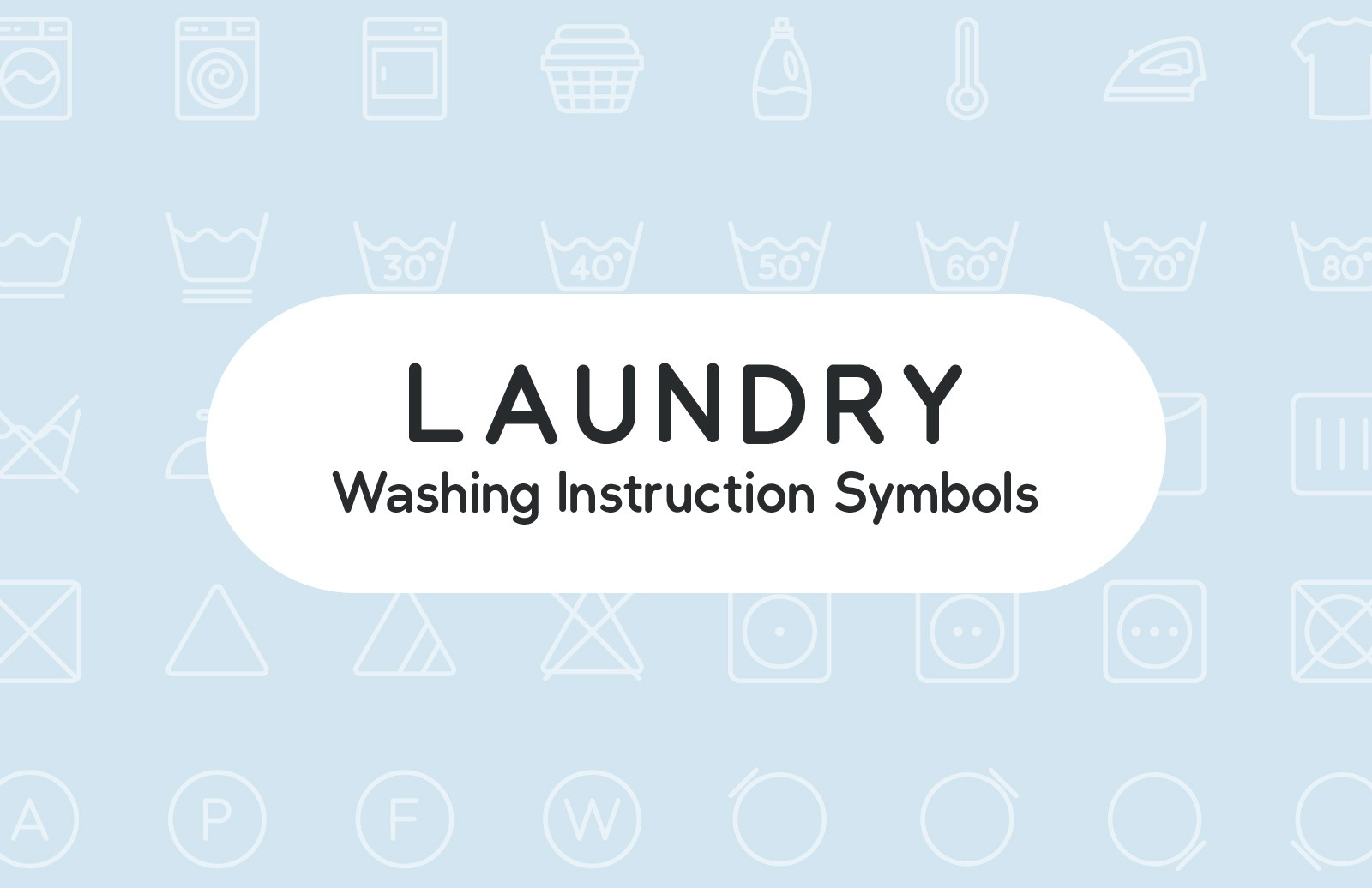 Laundry Washing Instruction Symbols