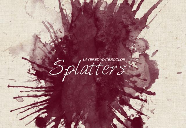 Layered WaterColor Splatters