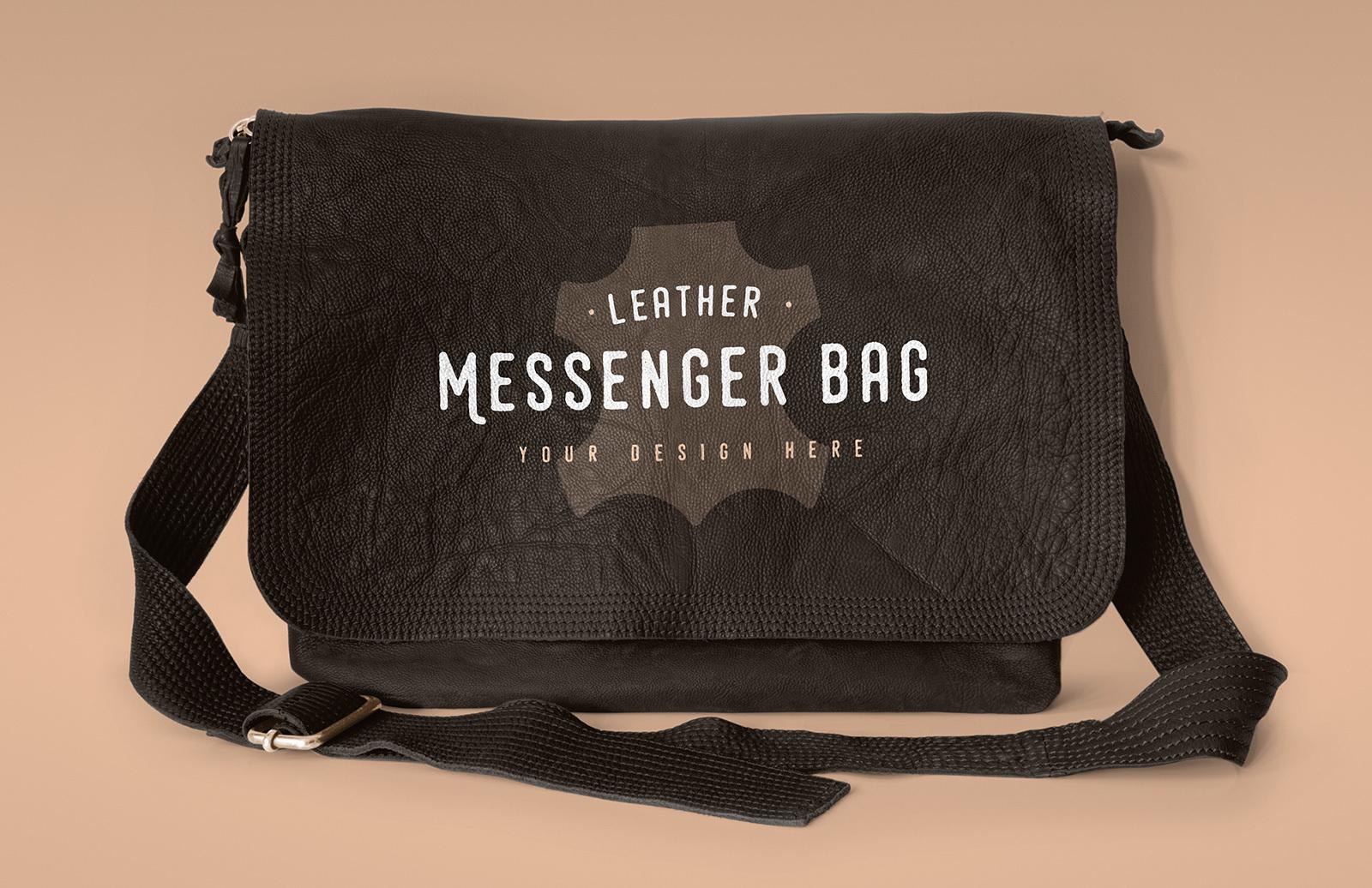 Leather Messenger Bag Mockup Preview 1