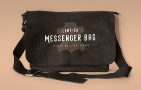 Leather Messenger Bag Mockup