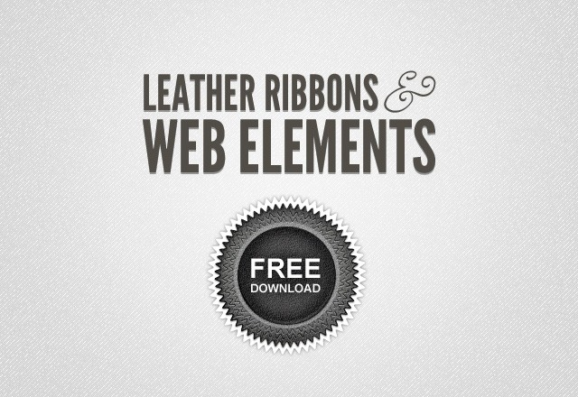 Leather Ribbons & Web Elements