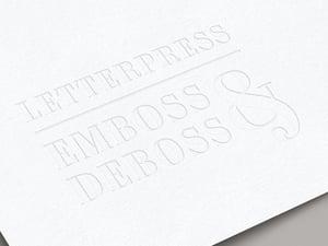 Letterpress Emboss & Deboss Logo Mockup 1