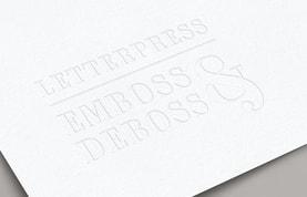 Letterpress Emboss & Deboss Logo Mockup