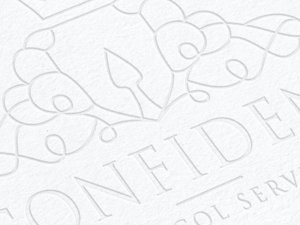 Letterpress Emboss & Deboss Logo Mockup 2