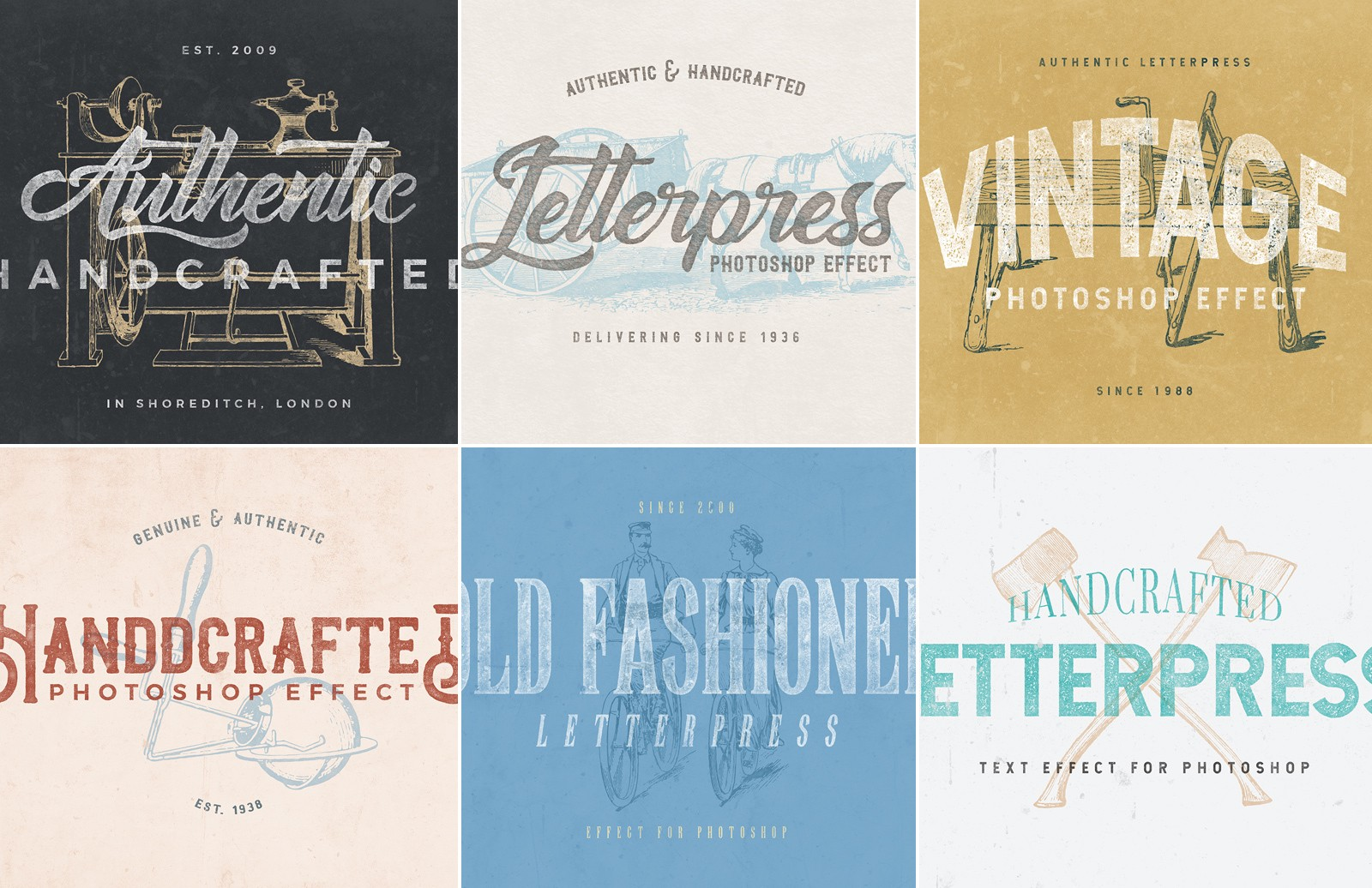 Letterpress Text Effect Pack Preview 1