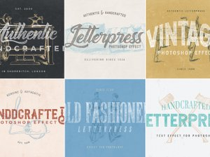 Letterpress Text Effect Pack 1