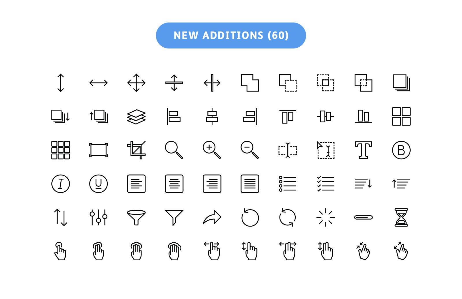 600 Vector Line Icons - Outlined 2