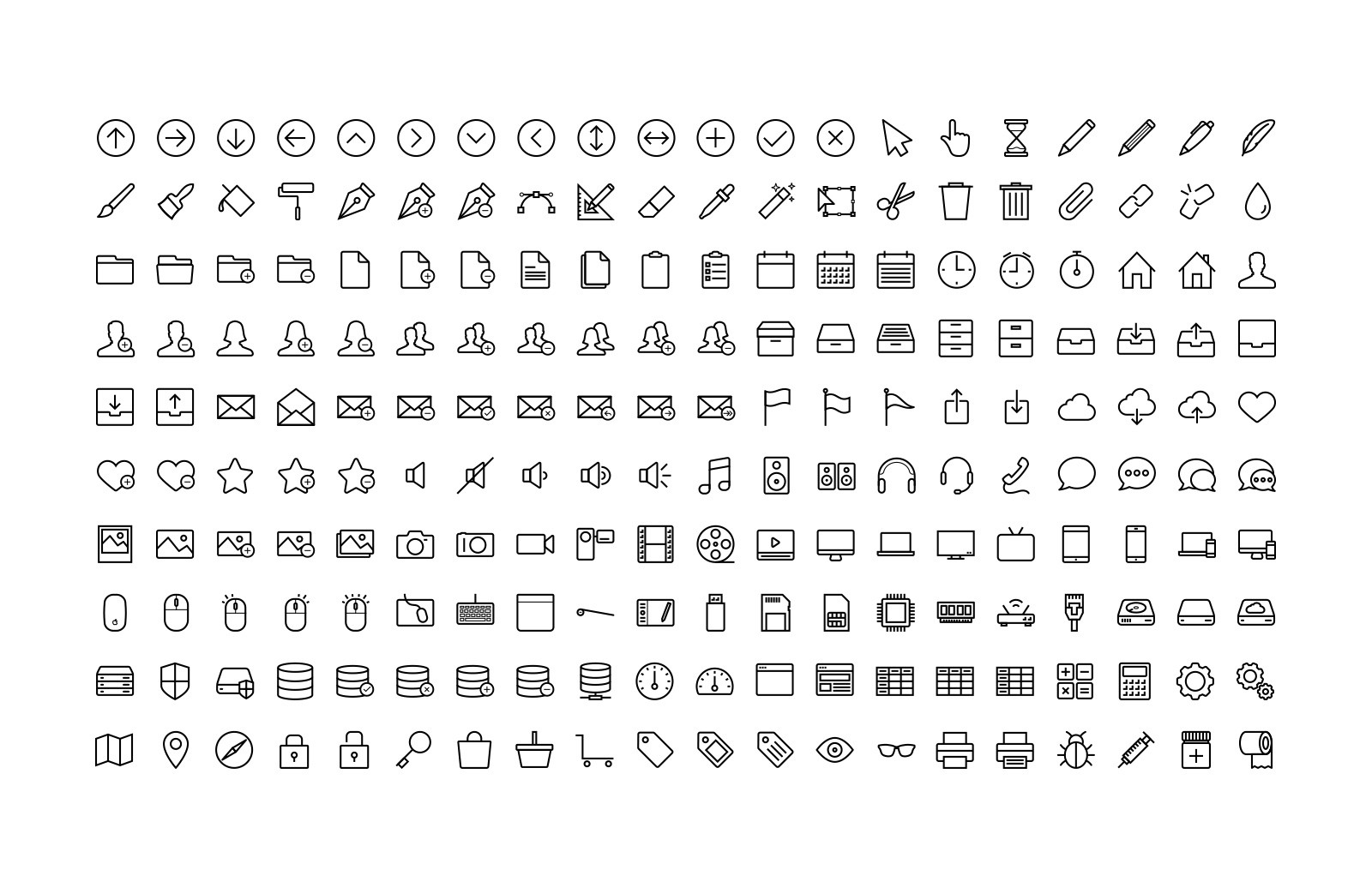 Large Line Icons 10 Preview 3