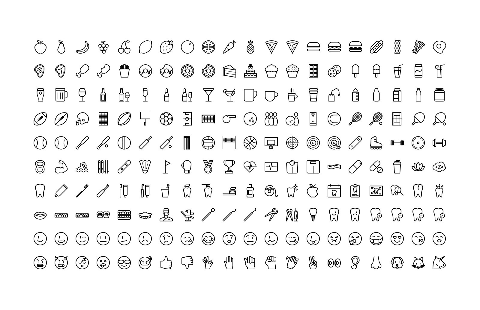Large Line Icons 10 Preview 4