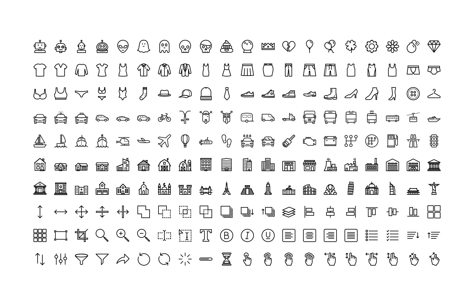 Large Line Icons 10 Preview 5