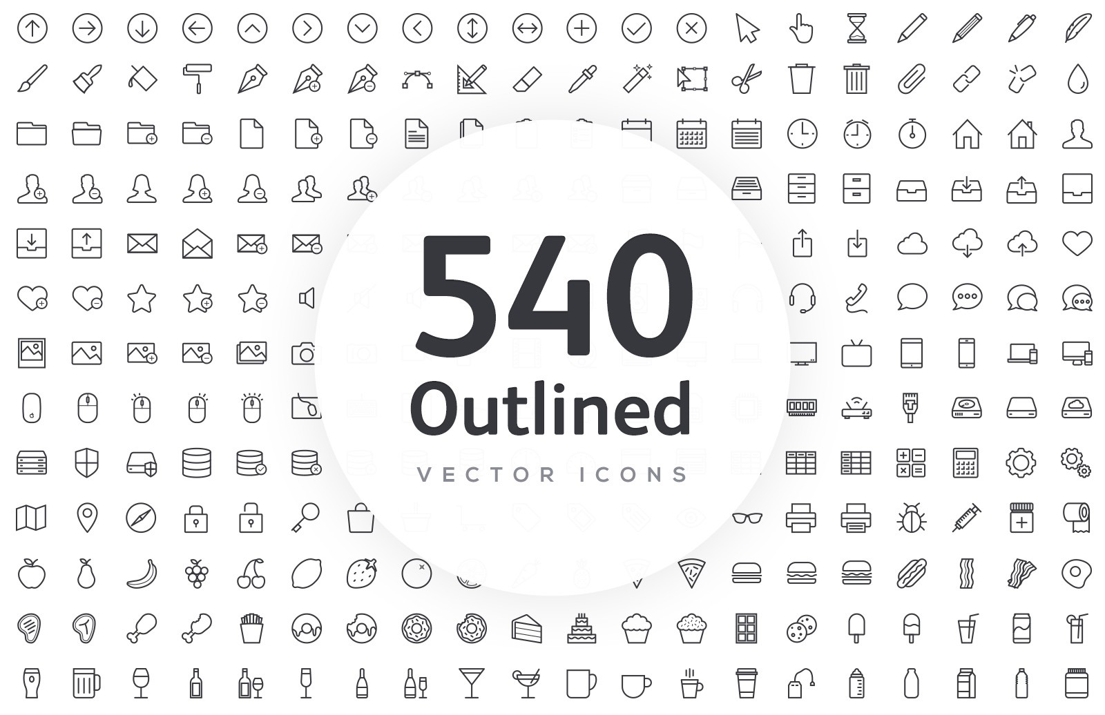 Vector Line Icons - Outlined 1
