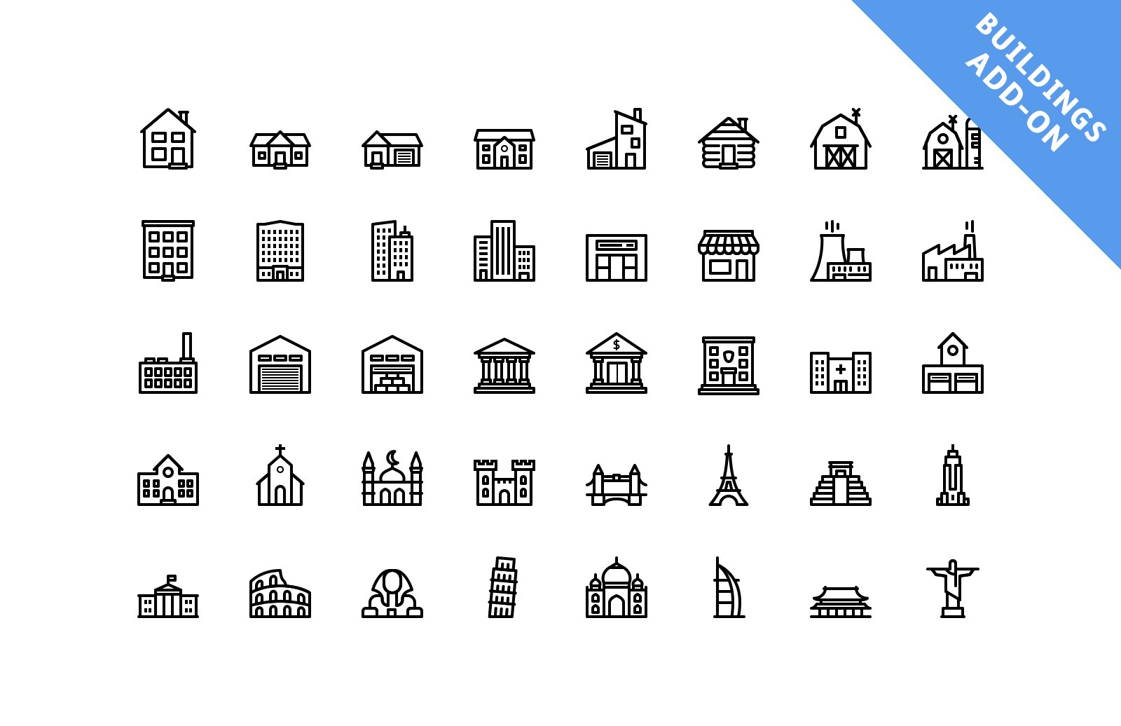 Vector Line Icons - Outlined 2