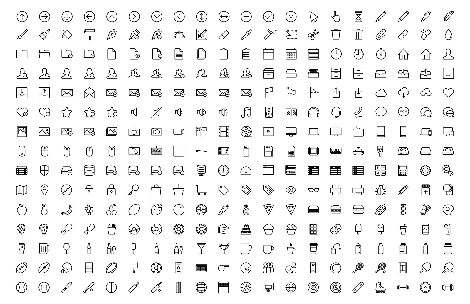Large Line Icons 9 Preview 3