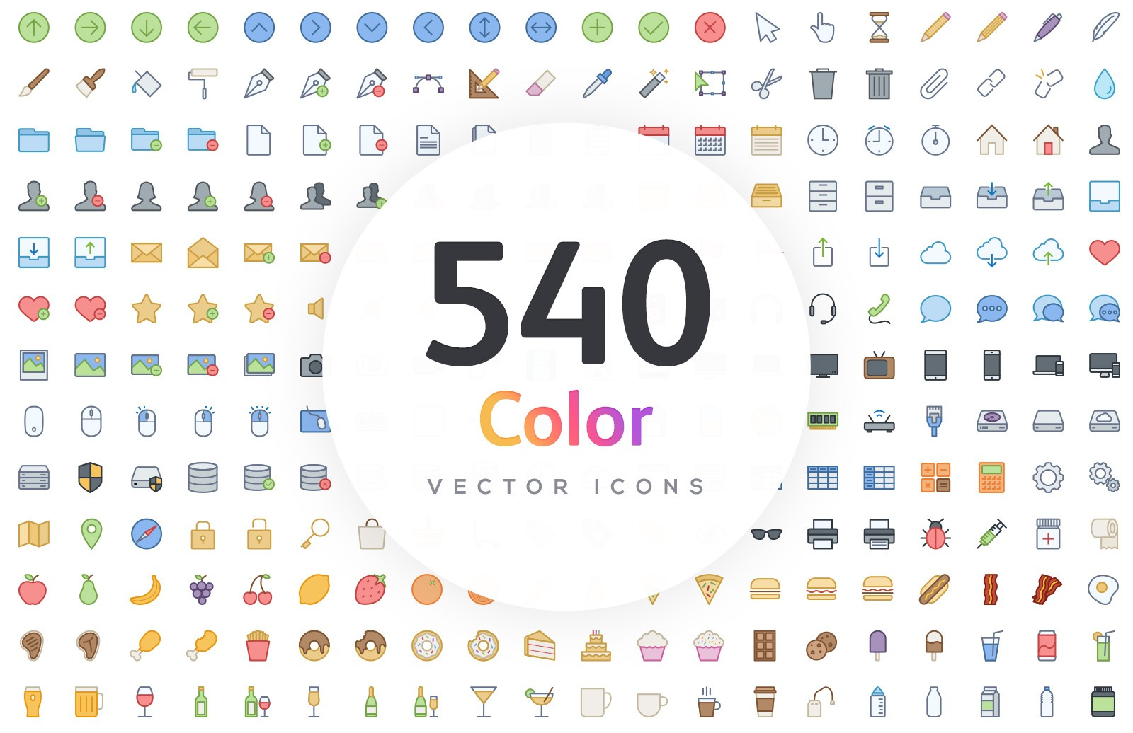 Vector Line Icons - Color 1