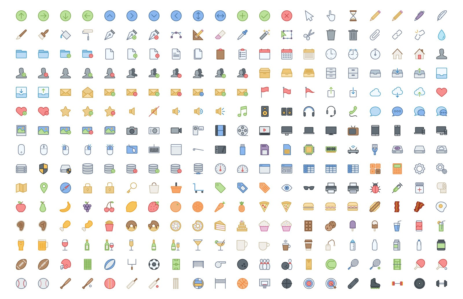 Line Icons Color 5 Preview 3