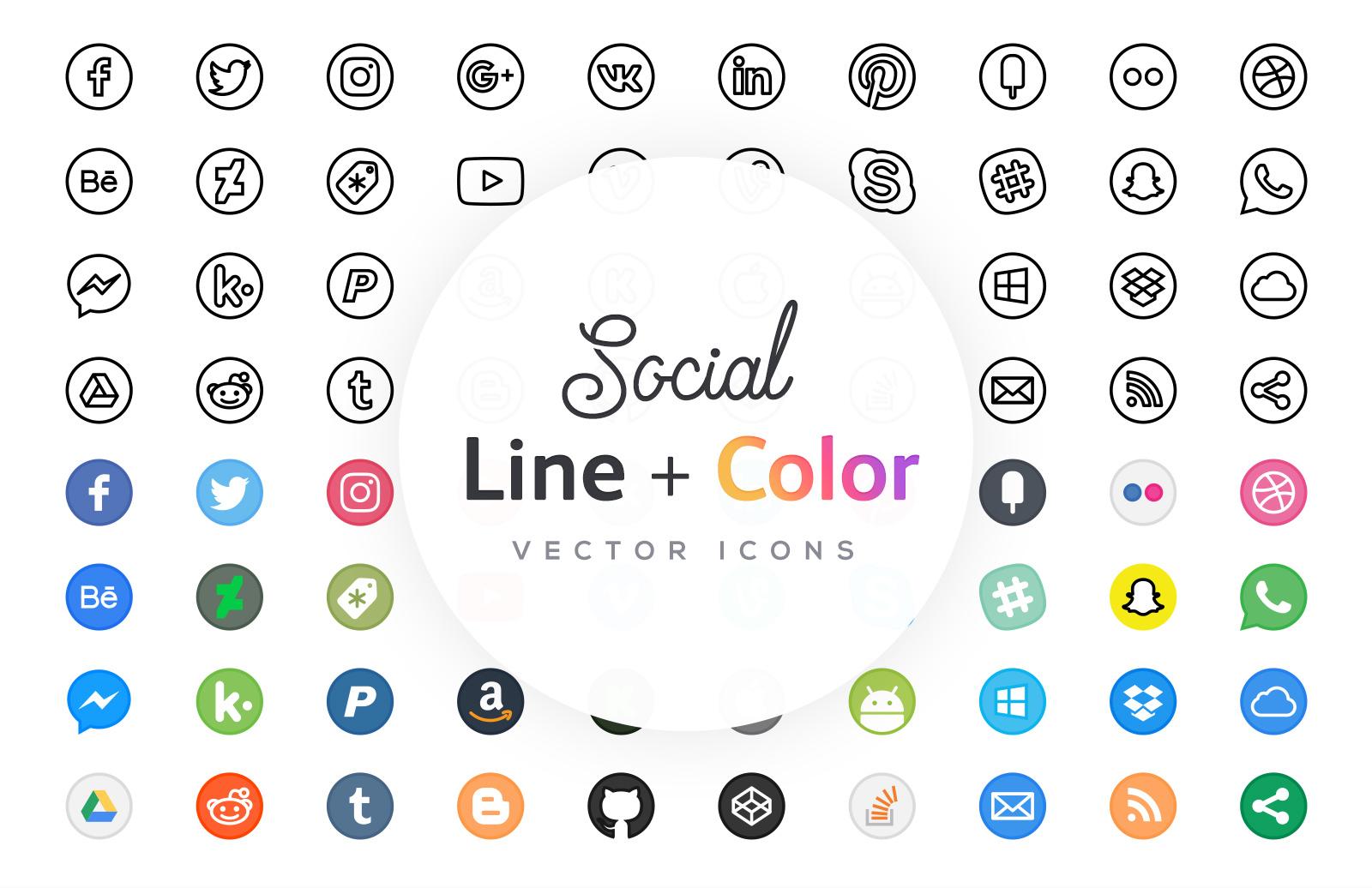 Free Line Icons - Social
