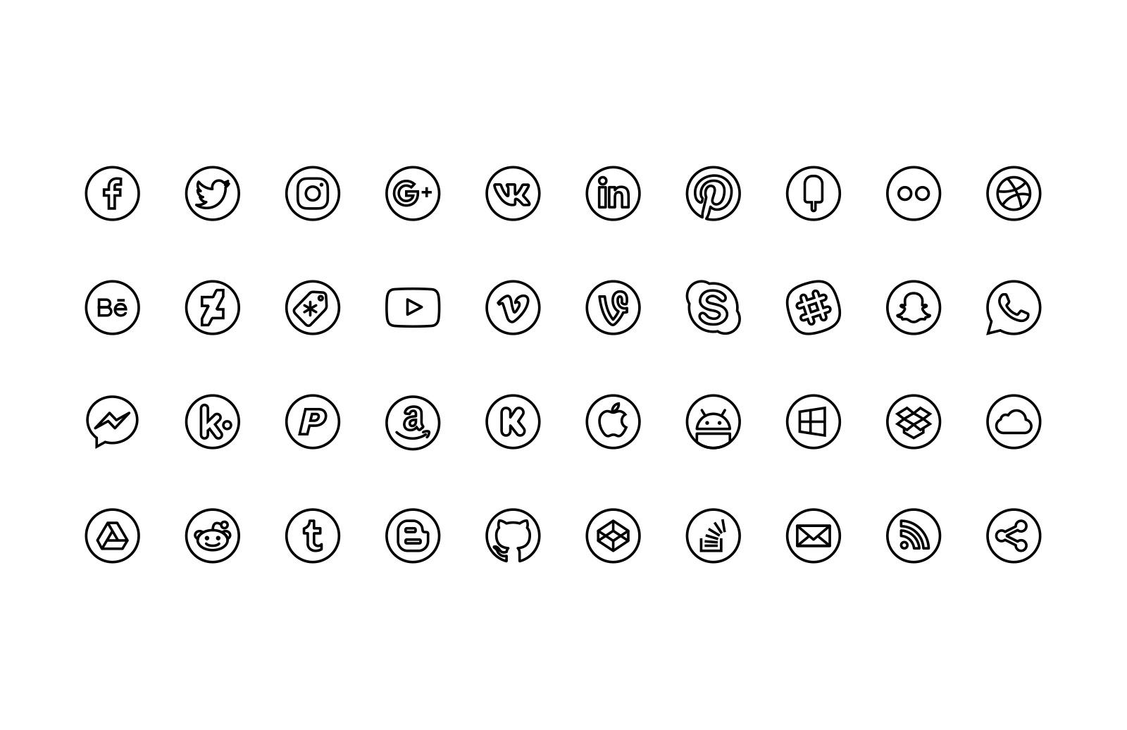 Free Line Icons - Social 2