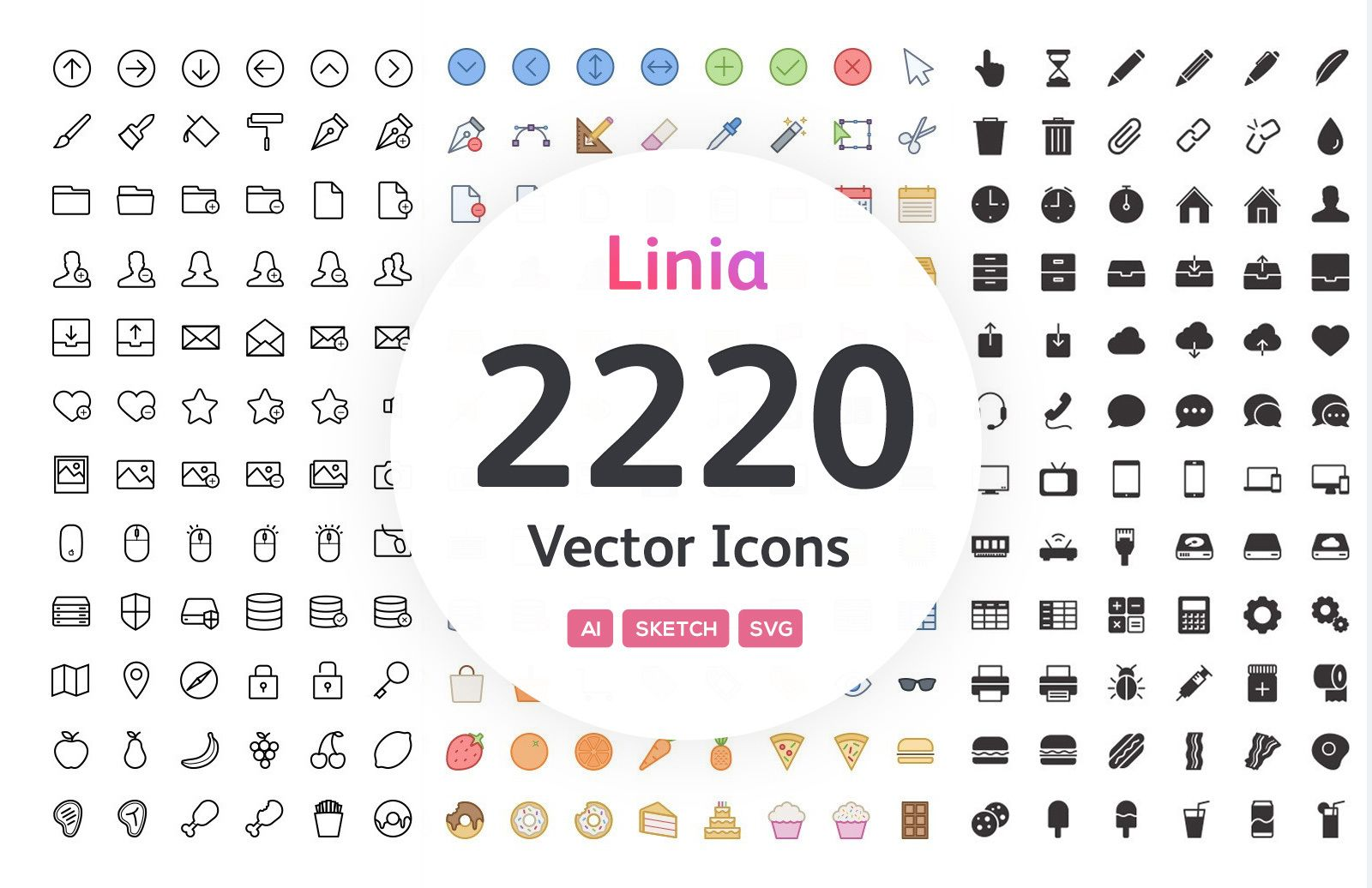 Linia Complete Icon Set Preview 1