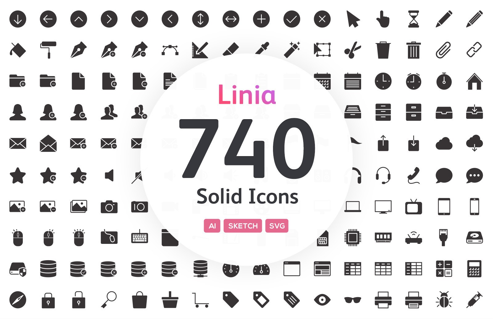 Linia Solid Icons 12 Preview 1