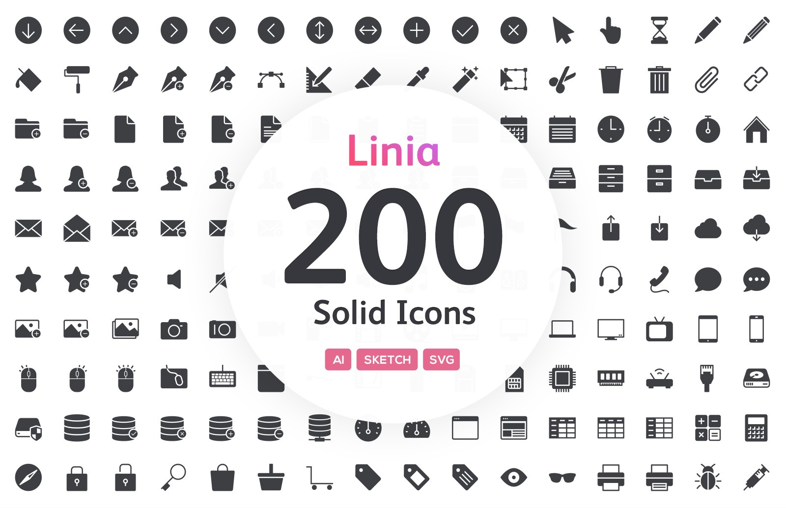 Linia - Solid Vector Icons
