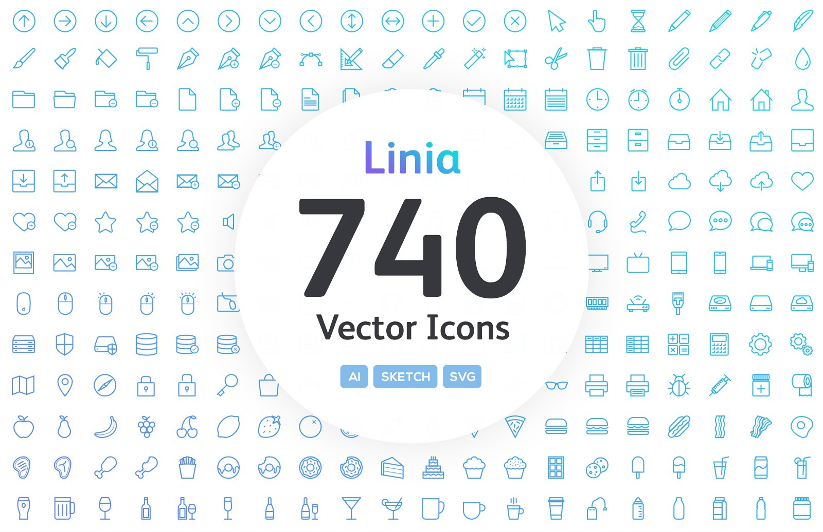 Linia - Line Vector Icons