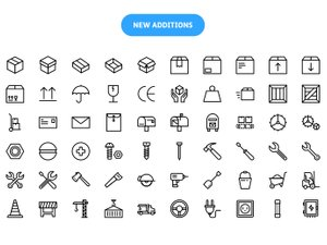 Linia - Line Vector Icons 2