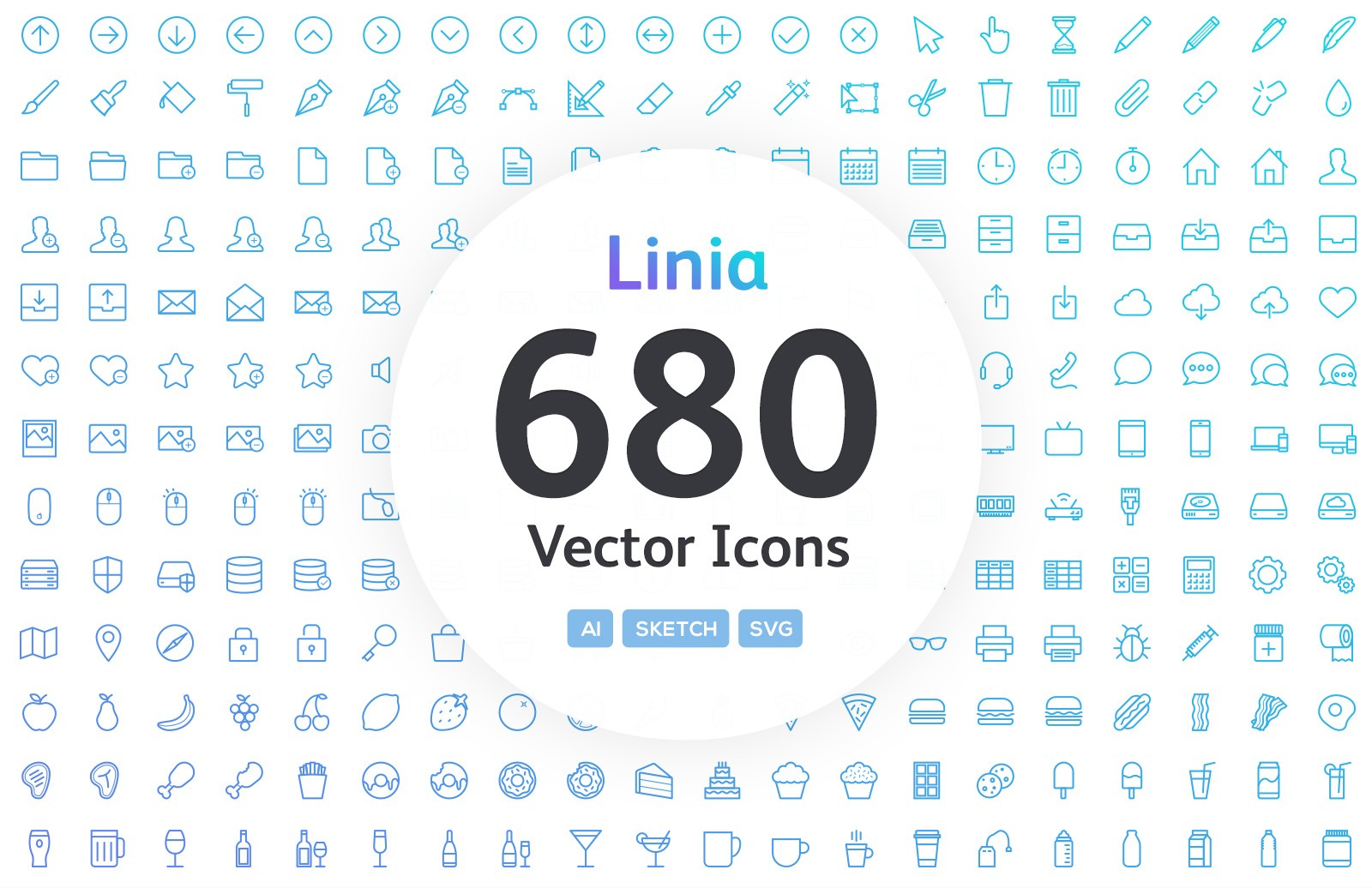 Linia - Line Vector Icons 1