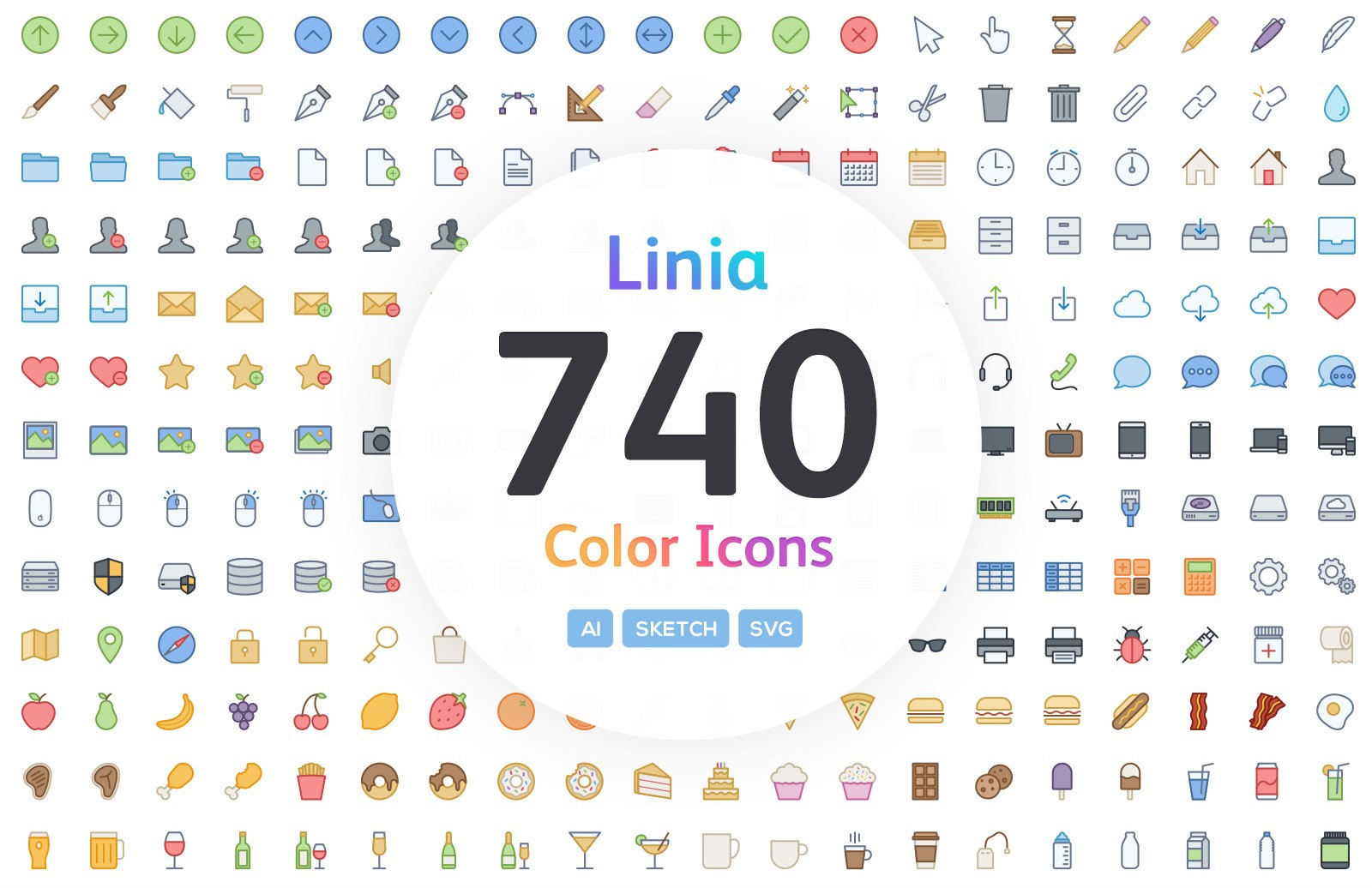 Linia - Color Vector Line Icons