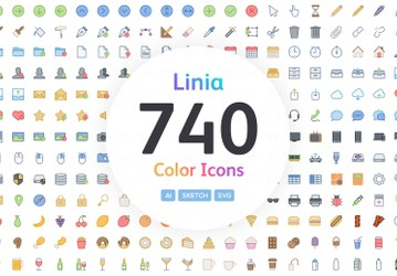 Linia - Color Vector Line Icons