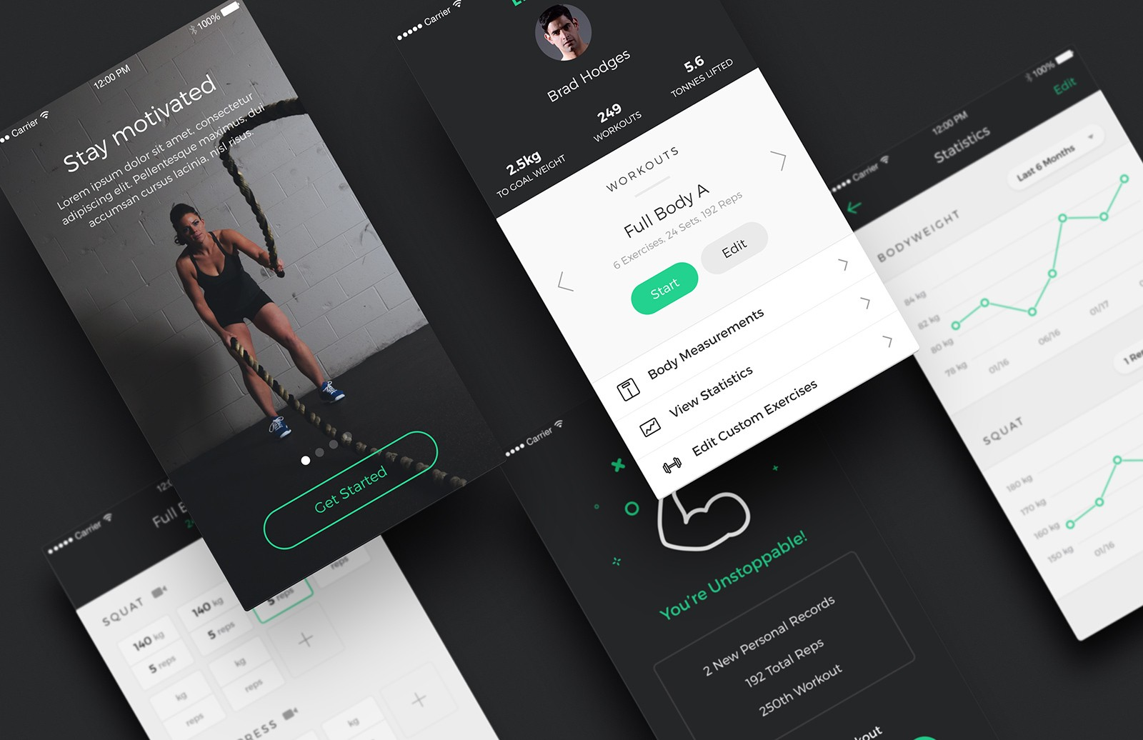 Lifter - Fitness App UI Kit
