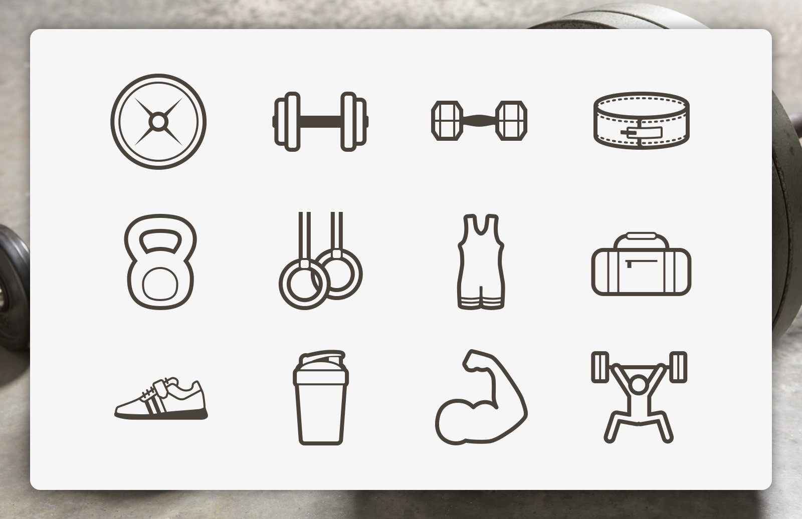 Lifting Vector Icons