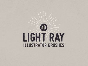 Light Ray Illustrator Brushes 1