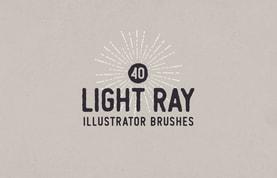 Light Ray Illustrator Brushes