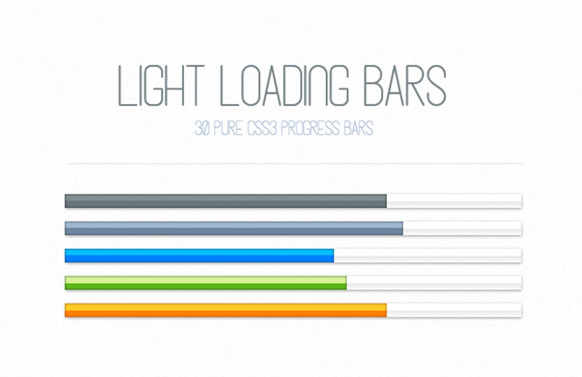 Light  Css3  Loading  Bars  Preview1
